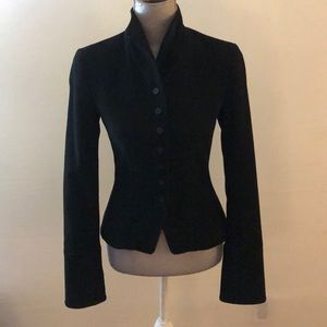 Tumor wool black fitted jacket, xs